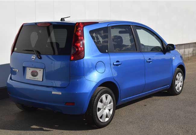used nissan note hatchbacks 2007 model in blue used cars stock 59247 cso japan. Black Bedroom Furniture Sets. Home Design Ideas