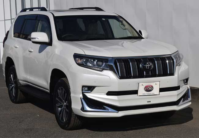 Toyota Land Cruiser Prado Suv 4wd 2018 Model In White Stock 60068 Cso Japan