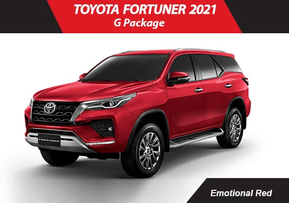 Toyota fortuner 2021 Red